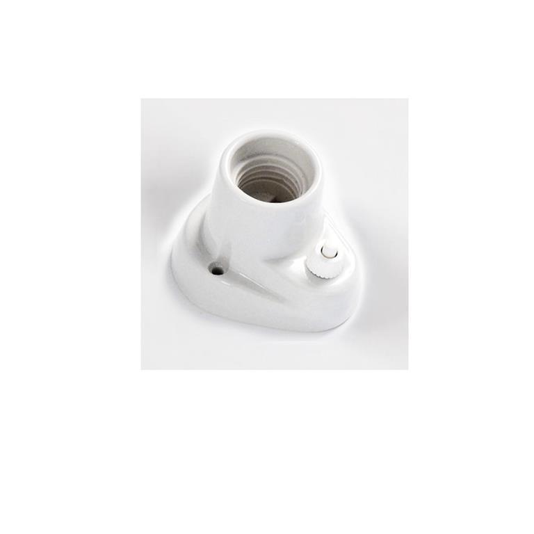 Portalampade porcellana E27 interruttore base curva