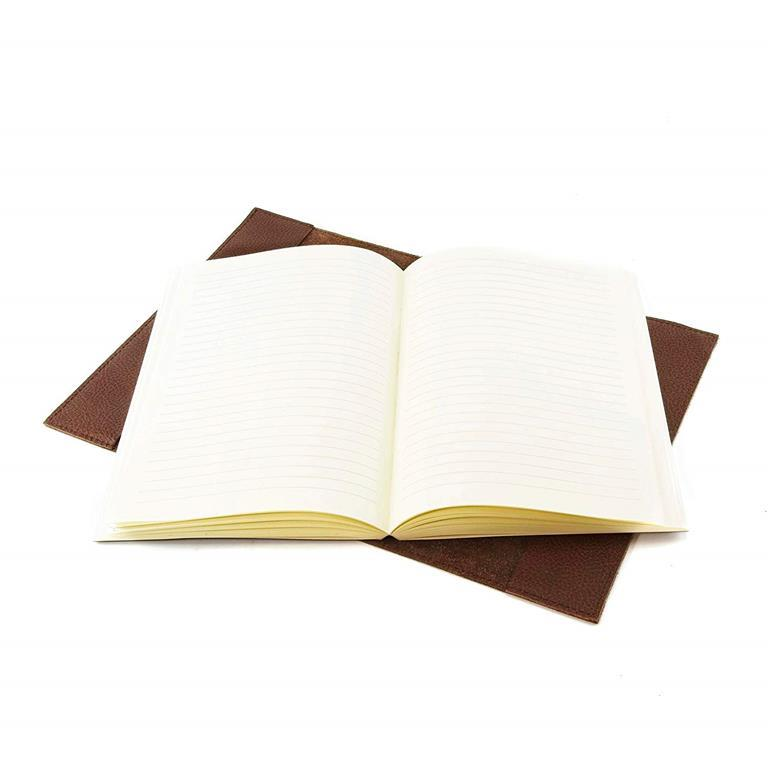 Diario in pelle Asti con blocco intercambiabile A5 15x21 cm. Marrone. Con  scatola regalo 5ff60c1863d
