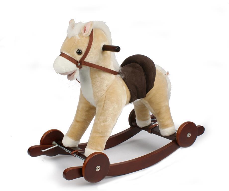 Cavallo A Dondolo Con Ruote.Cavallo A Dondolo Con Ruote Crema Odg Tricicli E Cavalcabili