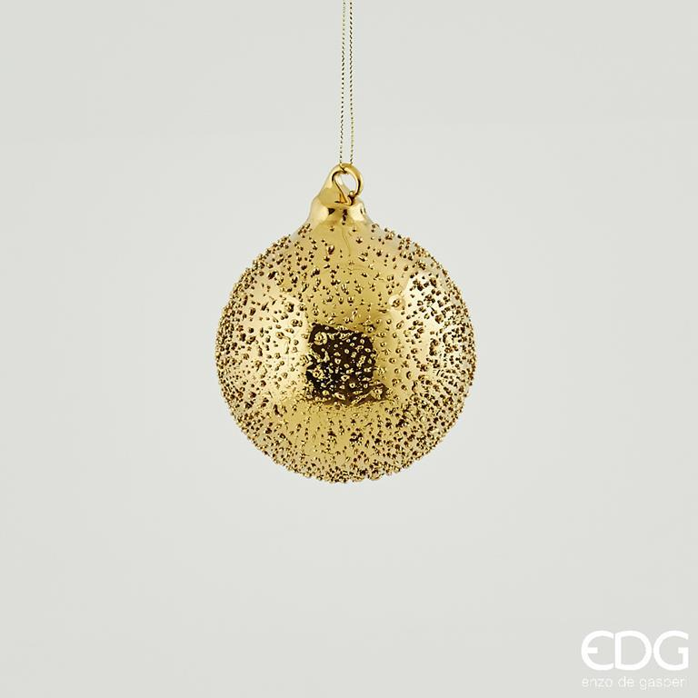 Immagini Natale Oro.1 Pallina Di Natale Oro In Vetro Microbolle 8 Cm Addobbi Albero Ghirlande