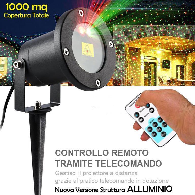 Proiettore Luci Laser Natale.Proiettore Laser Natale Da Esterno Con Crepuscolare E Telecomando 2
