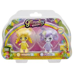 Glimmies Rainbow Friends. Blister 2 Mini Doll. Giochi Preziosi. Gln01000-2