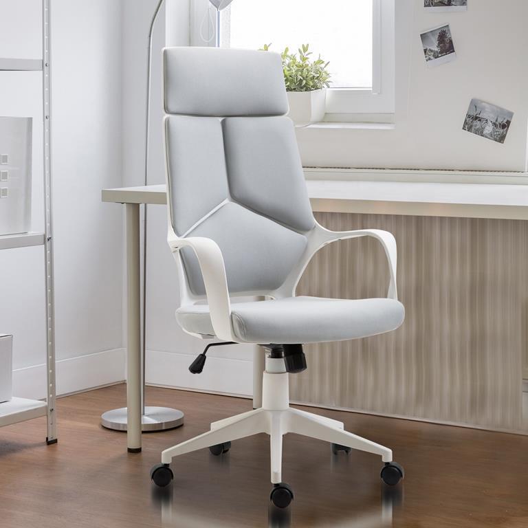 Homcom sedia da ufficio ergonomica poltrona presidenziale for Design sedia ufficio