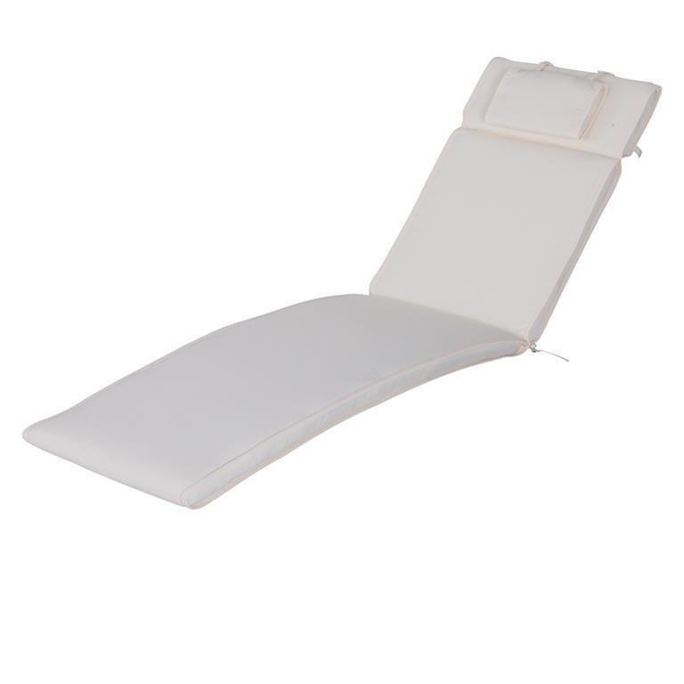 Sdraio Per La Casa.Cuscino Per Sdraio Lettino Prendisole Da Giardino Bianco Crema