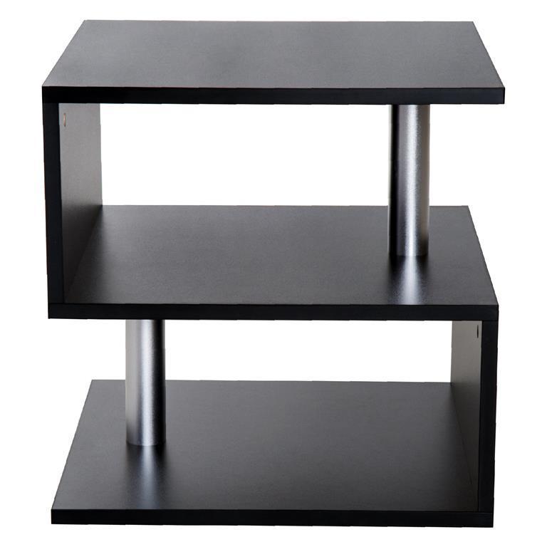 Moderno Tavolino Basso Da Salotto in Legno Nero, 50x50x50cm - Homcom ...
