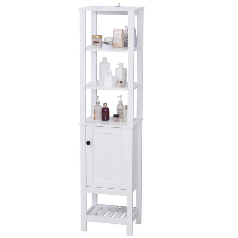 Homcom Mobile Alto Da Bagno Colonna Design Compatto Scaffale Anta Singolo Bianco Homcom Casa E Cucina Ibs
