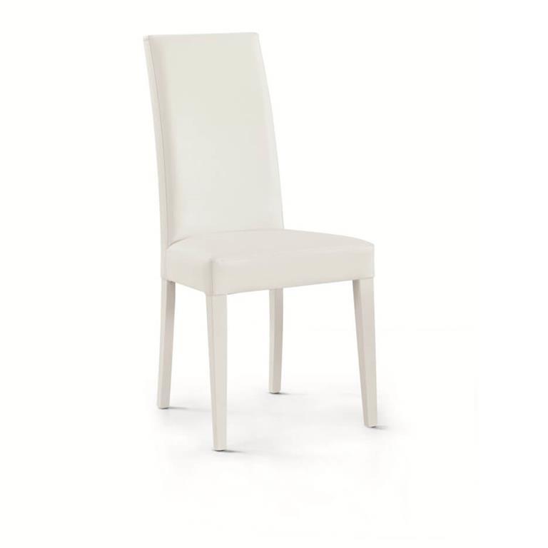 Sedia moderna di design ecopelle bianca - MilaniHome - Casa e Cucina ...