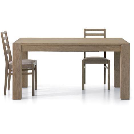 Tavolo Moderno In Rovere.Tavolo Da Pranzo Moderno Di Design In Rovere Seppia Spazzolato Cm