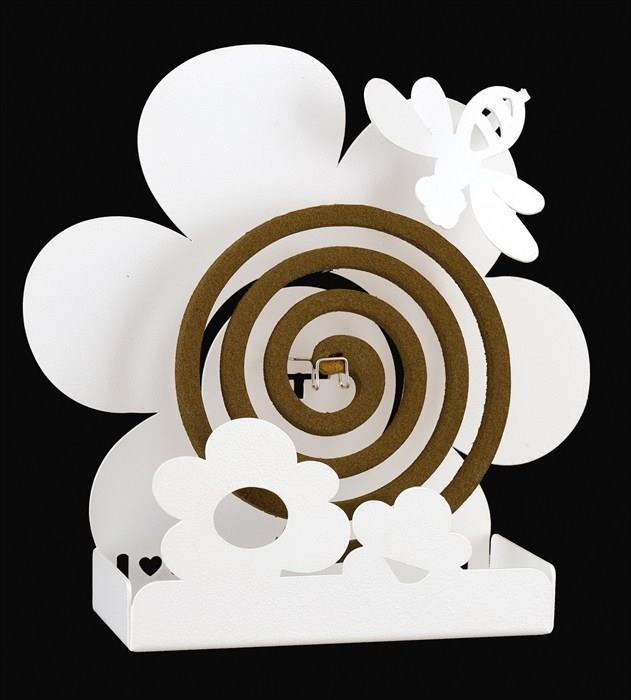 Arti E Mestieri Porta Zampironi.Porta Zampirone Ape Su Fiore Bianco Arti E Mestieri Casa E