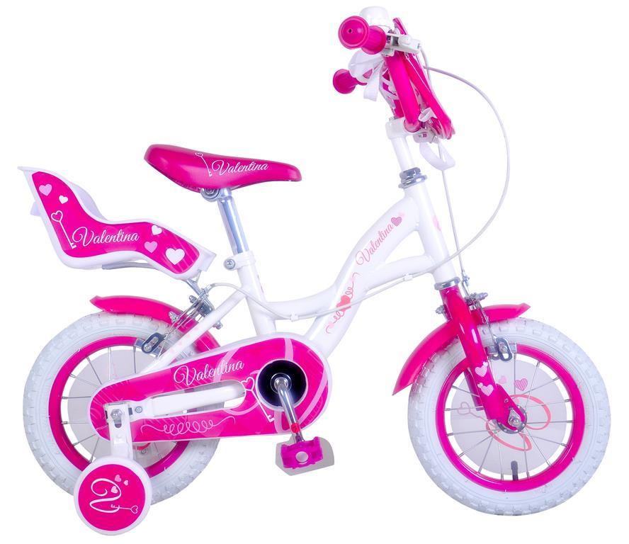 Bicicletta Bambina Misura 14 Valentina Telaio Acciaio A Sfera Età 3 6 Anni