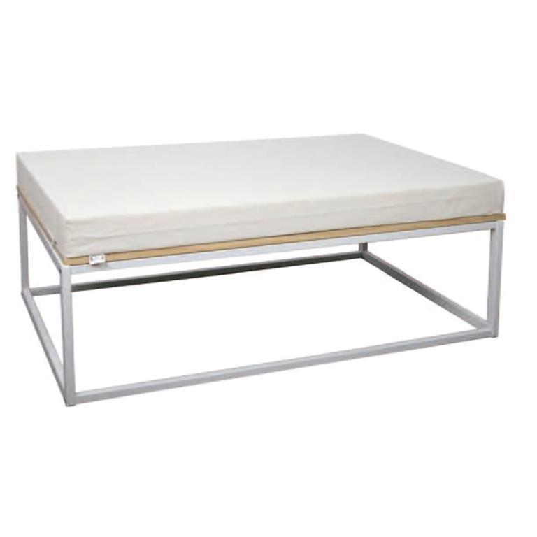 Panca per Sala da Pranzo con cuscino Bianco/Bianco, 40 x ...