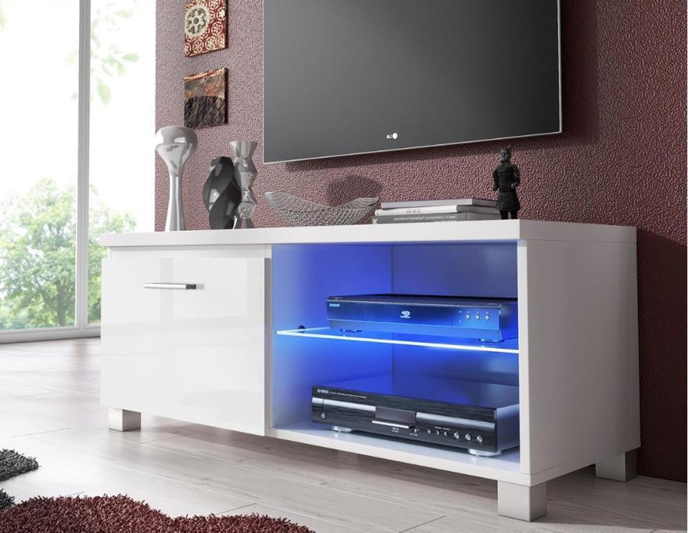 Mobile Porta Tv Led Soggiorno Bianco Mate E Bianco Laccato Innovation Casa E Cucina Ibs