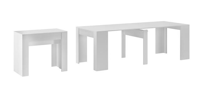 consolle multifunzione bianco Tavolo da pranzo 4 in 1 in stile moderno e contemporaneo allungabile 100/% Made in Italy