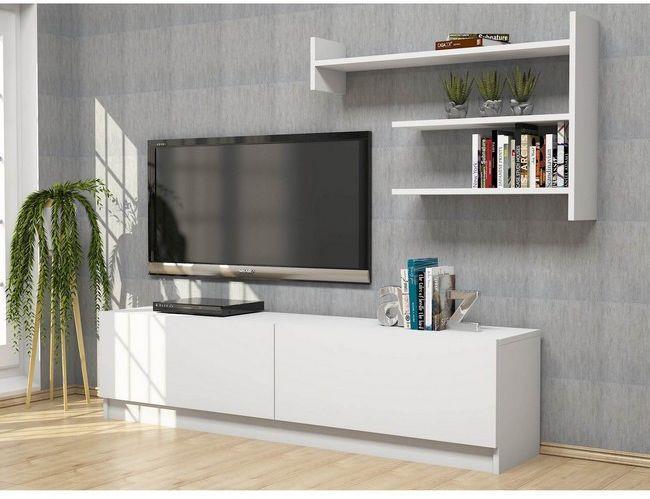 Homemania Mobile Porta Tv Martin Moderno Con Ante Mensole Ripiani Da Salotto Bianco In Legno 160 X 33 6 X 40 Cm Homemania Casa E Cucina Ibs