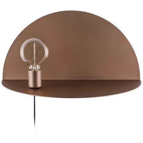Homemania Lampada A Parete Shelfie Applique Con Mensola Per Soggiorno Camera Rame In Metallo 50 X 25 X 25 Cm 1 X E27 Max 100 W Homemania Casa E Cucina Ibs