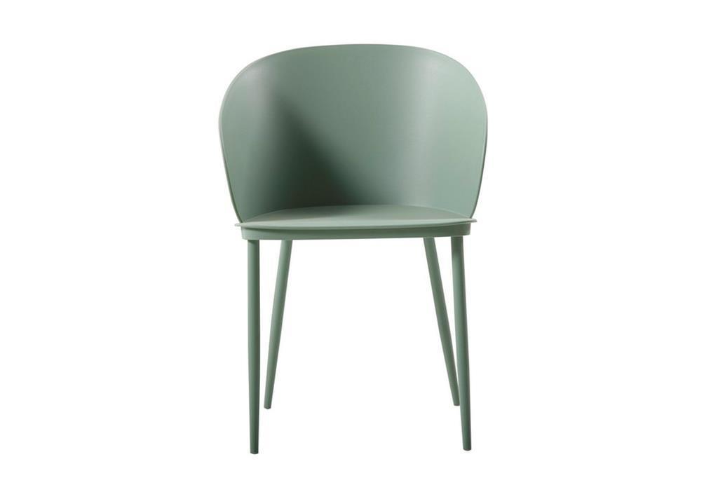 Sedia Dalis, Set da 2 Pezzi, Colore Verde, in Polipropilene eMetallo  Homemania