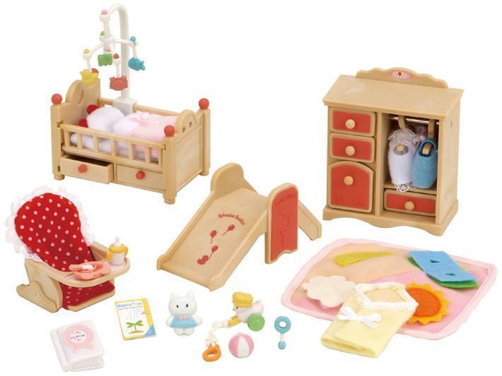 Mobili Per Casa Delle Bambole : Set mobili per la cameretta sylvanian families sylvanian families