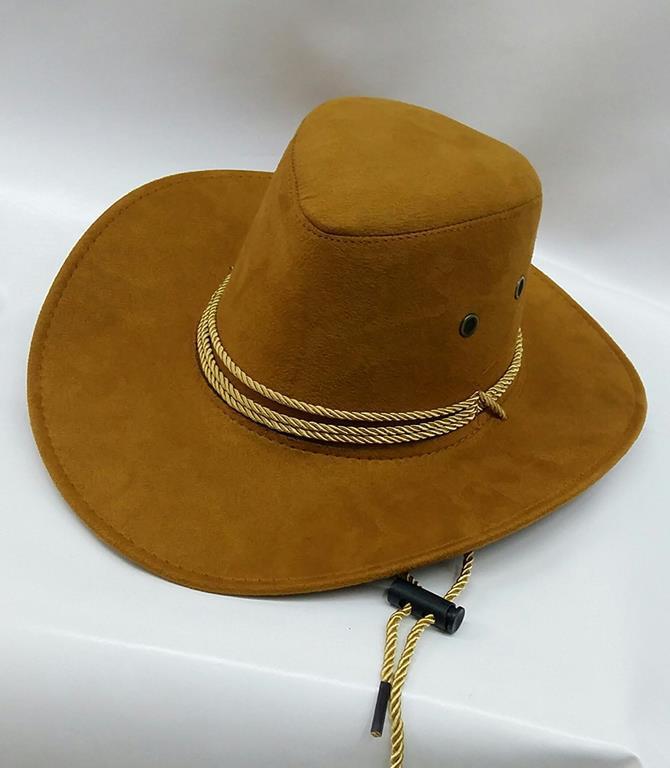 Cappello Cowboy Adulto In Simil Camoscio - Abitiemaschere - Idee ... 0f704610ba83