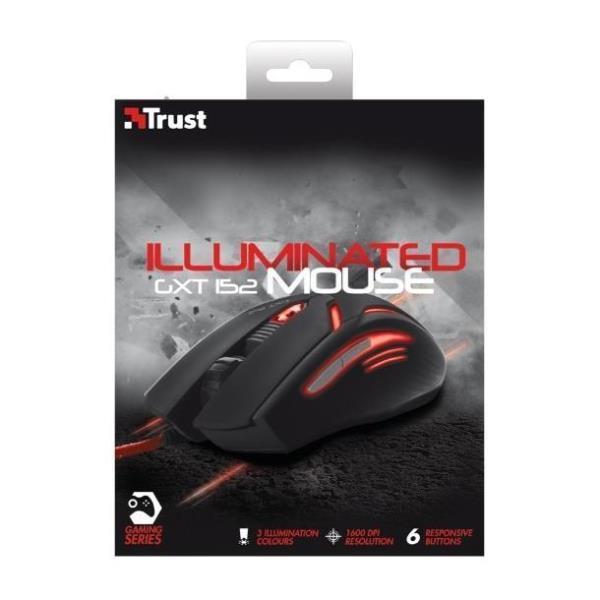 e450825aba7 Trust GXT 152 Gaming Mouse Illuminato con 6 Tasti e 2400 DPI - Trust ...
