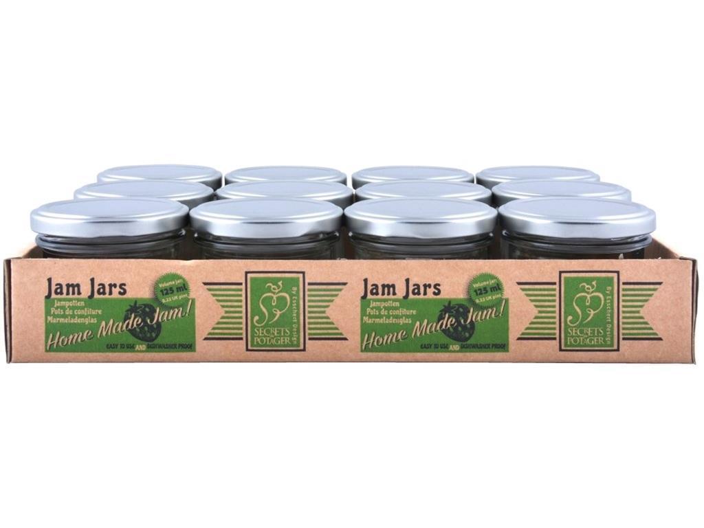 Contenitori Vetro Per Conserve 12 barattoli in vetro con coperchio per marmellate 125ml sugo cucina