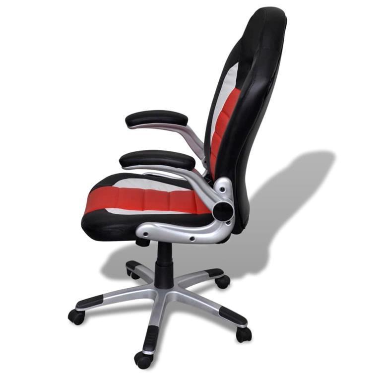 Sedia ufficio in pelle design moderno rosso - vidaXL ...