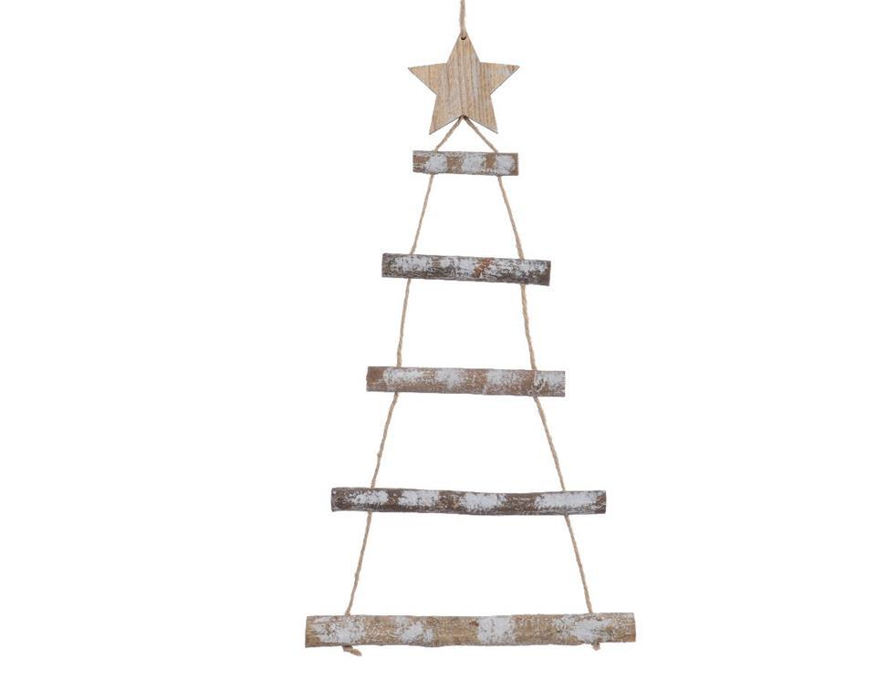 Albero Di Natale 50 Cm.Albero Di Natale Stilizzato In Legno 50 Cm