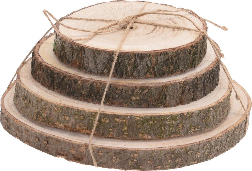 Decorazioni In Legno Per La Casa : Set dischi decorazioni in legno wooden slices decoro casa natale