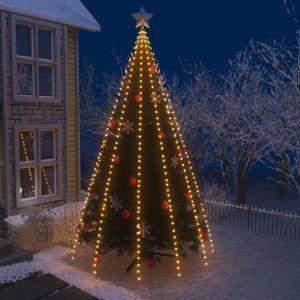 Albero Di Natale 500 Cm.Vidaxl Rete Di Luci Per Albero Di Natale Con 500 Led Ip44 500cm Vidaxl Casa E Cucina Ibs