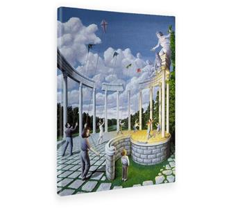 Giallo Bus. Quadro. Stampa Su Tela Canvas. Rob Gonsalves. Pulling Strings. 70X100Cm