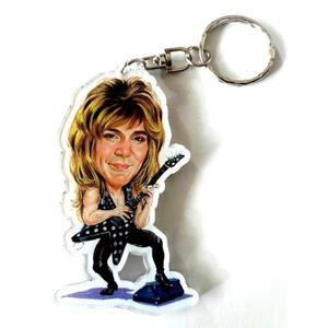Portachiavi in acrilico caricature Music Legends - Randy Rhoads - Quite Riot