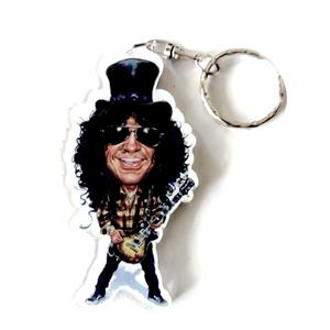 Portachiavi in acrilico caricature Music Legends - Slash - Guns and Roses
