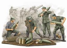 German (WWII) s.FH 18 Field Howitzer Gun Crew Plastic Kit 1:35 Model TP0426