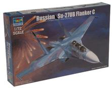 Russian Su-27UB Flanker C Fighter Plastic Kit 1:72 Model TR 01645