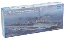 German Destroyer Zerstorer Z-43 1944 Battleship Plastic Kit 1:700 Model TR 05789