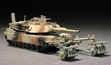 M1A1 With Mine Roller Set Tank 1:72 Plastic Model Kit RIPTR 07278