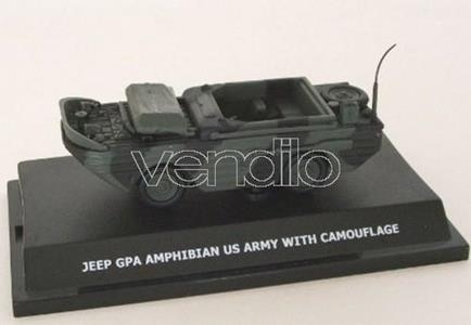 20492 Jeep Gpa Amphibian Us Army With Camouflage 1:43 Modellino Wemi