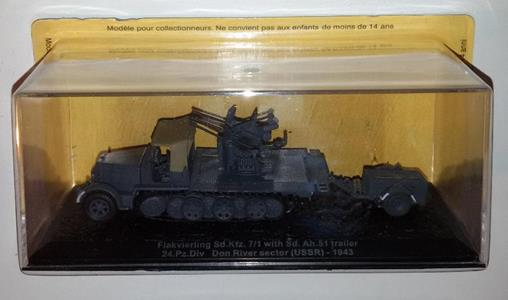 Carro Armato Altaya 1/72 Flakvierling Sd.Kfz. 7/1 Trailer Don River Diecast