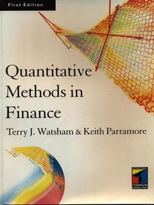 Quantitative Methods for Finance - Terry J. Watsham,Keith Parramore - 2