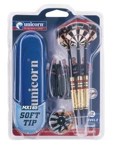 Giocattolo Set 3 freccette con punta in plastica Unicorn 1