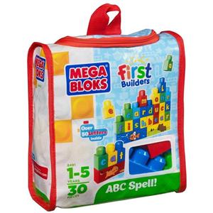 Giocattolo Mega Bloks. First Builders. Costruisci & impara Mega Bloks 1