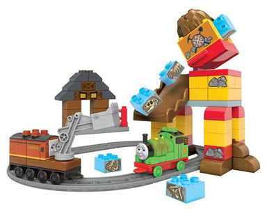 Giocattolo Mega Bloks. Thomas and Friends. Percy e l'Inseguimento Mega Bloks 1
