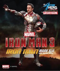 Giocattolo Action Hero Vignette. Iron Man 3 Mark XLII (Battle Damaged Version) (DR38118) Dragon 4