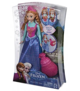Giocattolo Disney Frozen. Anna principessa colori Mattel 1