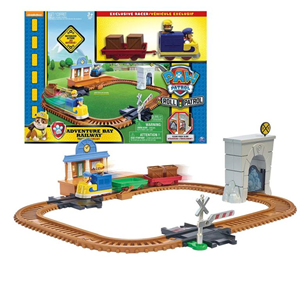 Giocattolo Paw Patrol On a Roll. Playset Treno Spin Master 1