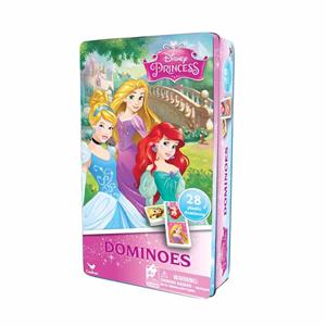 Giocattolo Domino Principesse Disney in Confezione di Latta Spin Master 1