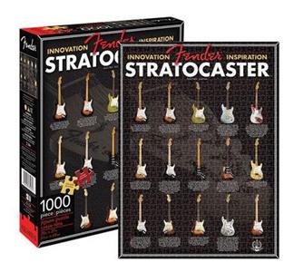 Giocattolo Fender. Puzzle Stratocaster Evolution Aquarius 1