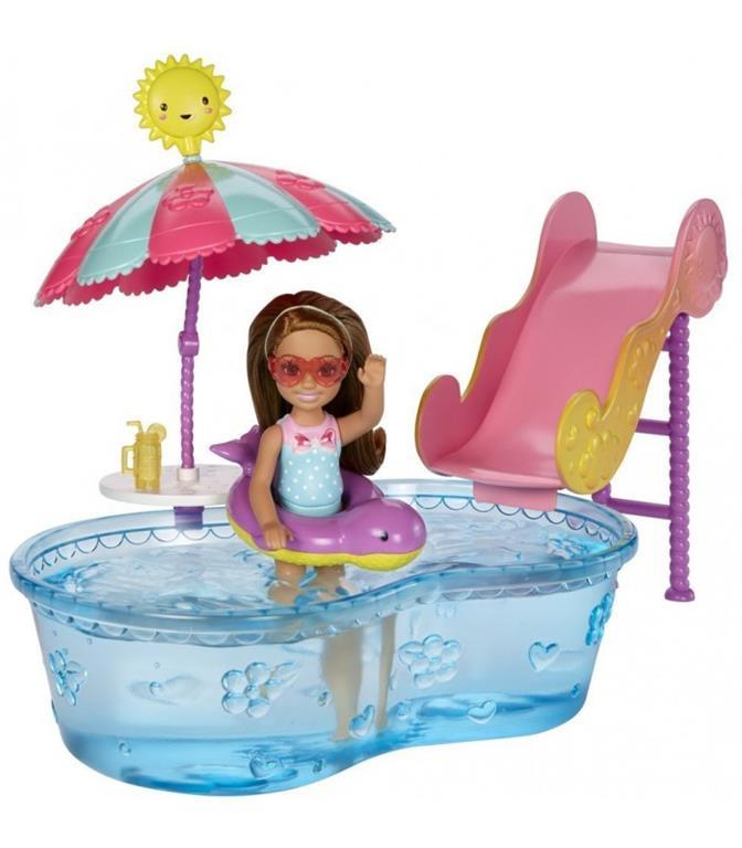 Barbie accessori di chelsea piscina mattel casa for Piscina di barbie