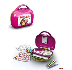 Giocattolo Masha e Orso. Valigetta Artista con Accessori (60 pezzi) Simba Toys 1
