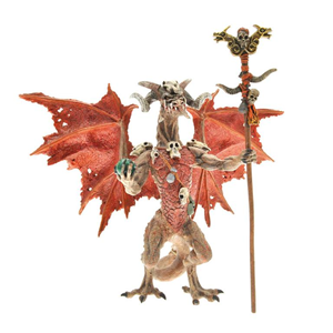 Giocattolo Dragons. Drago stregone rosso Plastoy 1