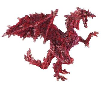 Giocattolo Dragons. Drago Rubino Plastoy 1